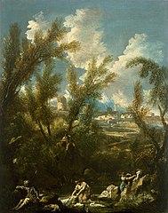 Landscape with Washerwoman