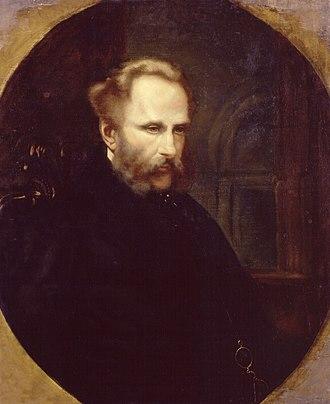 Alexander William Kinglake - 1863 portrait by Harriet M. Haviland