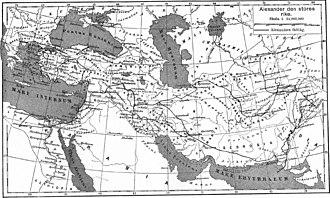 Kurdistan - Ancient Kurdistan as Kard-uchi, during Alexander the Great's Empire, 4th century BCE