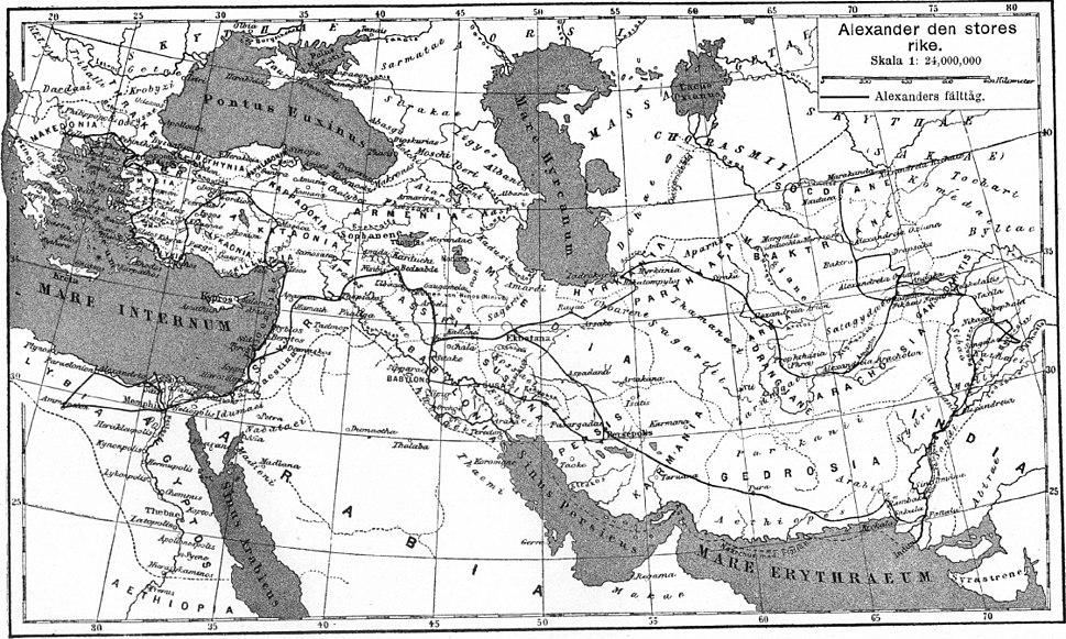 Alexander den stores rike, Nordisk familjebok