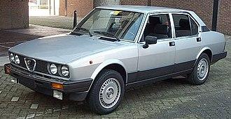 Alfa Romeo Alfetta - 1983–84 Alfetta Quadrifoglio Oro