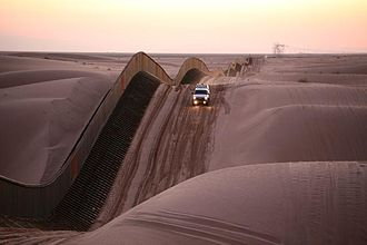 Border barrier - Mexico–United States barrier in California