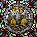All Saints Catholic Church (St. Peters, Missouri) - stained glass, sacristy, Holy Spirit detail.jpg