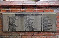 All Saints Church, Nazeing, Essex, England ~ war plaque next to lychgate.JPG