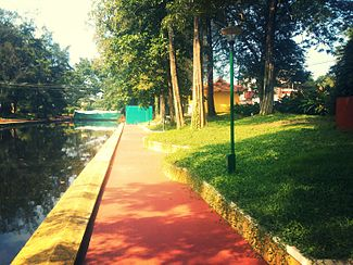 Commercial canal in Alleppey west