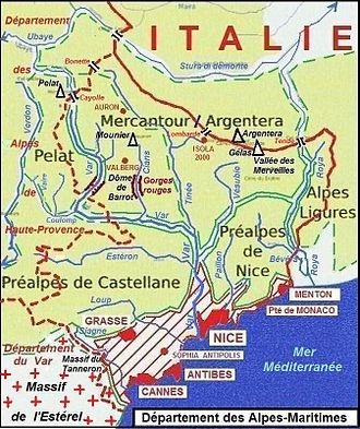 Alpes-Maritimes - Geography of the Department of Alpes-Maritimes