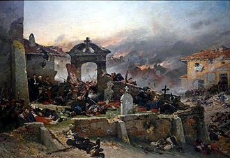 Battle of Gravelotte - The Cemetery of St. Privat by Alphonse-Marie-Adolphe de Neuville (1881)