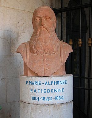 Marie-Alphonse Ratisbonne - Bust of Marie Alphonse Ratisbonne at Ratisbonne Monastery, Jerusalem