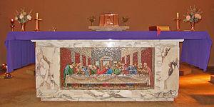 Yarram, Victoria - Image: Altar Mosaic Yarram Vic 18.3.06