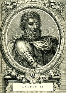 Amadeus II, Count of Savoy Count of Maurienne and Margrave of Turin