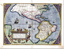 Sixteenth century map of the Americas, or, the New World