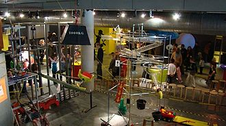 NEMO (museum) - Set-up of the 'chain reaction' on the first floor of the museum.