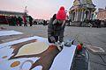 An art project in support of Euromaidan, December 4, 2013.jpg