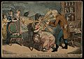 """An operator treating Ann Ford, a society lady, with """"Perkins Wellcome V0011092.jpg"""