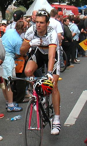 German National Road Race Championships -  Andreas Klöden wearing the German champion jersey (2004)