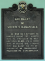 Ang Bahay ni Vicente Manansala NHCP Historical Marker.png