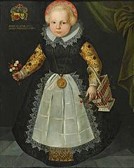 Portret van Anna van Popma op driejarige leeftijd
