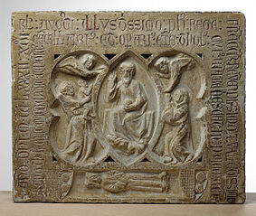 Bas-relief funéraire et épitaphe de Maître Aymeric
