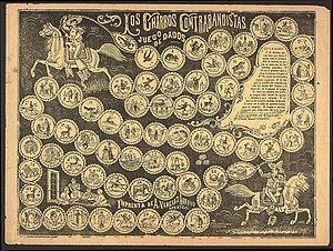 419ee995972c1 Juego  Los Charros Contrabandistas 1890-1917. Litografía de Antonio Vanegas  Arroyo.