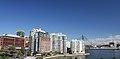 Appartment buildings near Pirrama Park, Sydney, Australia - looking towards ANZAC Bridge (35265182890).jpg