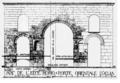 Arch of Ecce Homo in Jerusalem (Vincent, Louis-Hugues, Jérusalem, recherches de topographie, d'archéologie et d'histoire - II, Paris, 1912, p. 25).png