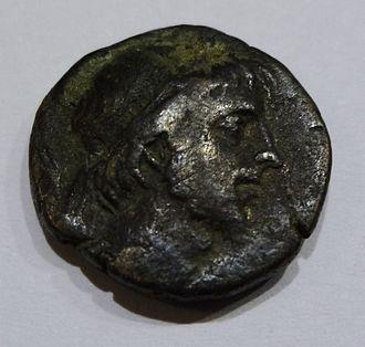 Ariobarzanes III of Cappadocia - Ariobarzanes III. on the front of a drachm