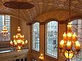 Arlene Schnitzer Concert Hall, 2012 - lobby chandeliers.JPG