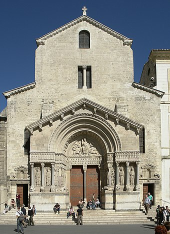 The Church of Saint Trophime in Arles (12th century) Arles kirche st trophime fassade.jpg