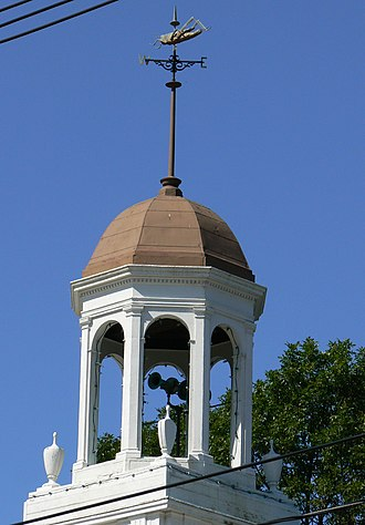 Highland Hose House - A 2008 photograph of the cupola and grasshopper-shaped weather vane