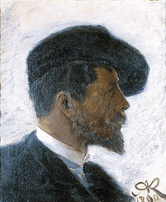 Arnold Krog - Image: Arnold Krog self portrait