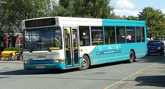Arriva Midlands - Plaxton Pointer 2 bodied Dennis Dart in Whitchurch in August 2009