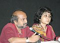 Arvind Sinha, (director) addressing a press conference about the film Dagar on the occasion of 37th International Film Festival (IFFI-2006) in Panaji, Goa on November 29, 2006.jpg