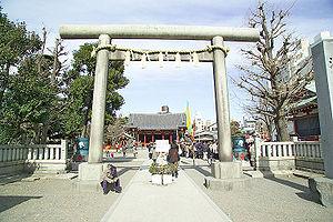 Asakusa Shrine - A torii leading the way to Asakusa Shrine