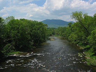 Claremont, New Hampshire - Mount Ascutney, seen from Claremont