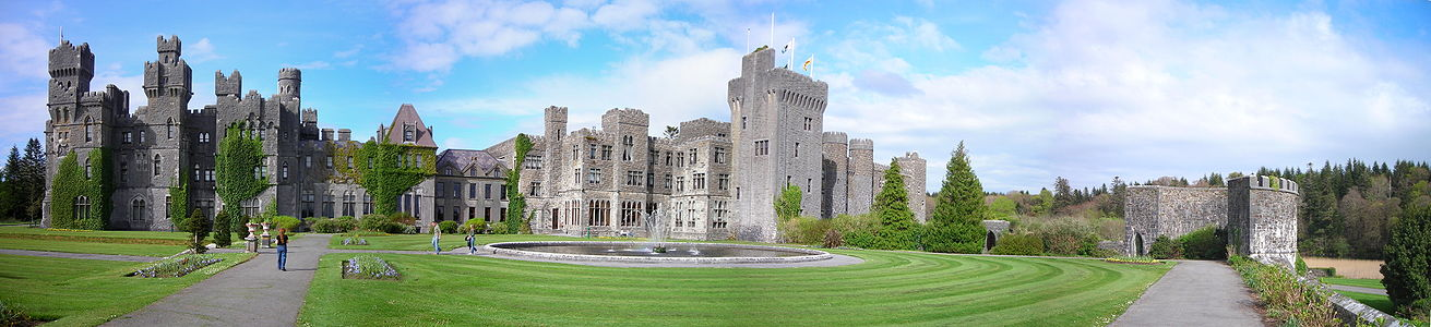 Panorama Of Ashford Castle