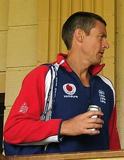 Ashley Giles English Test and County cricketer