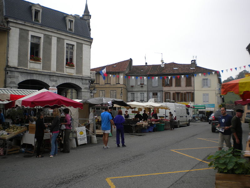 Aspet, Haute-Garonne, France - Market scene.