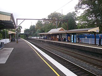 Asquith railway station - Northbound view from Platform 2