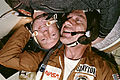 Astronaut Donald K. Slayton and cosmonaut Aleksey A. Leonov in the Soyuz Orbital Module.jpg
