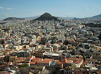 Atenes i el mont Licabet des de l'Acròpoli.JPG