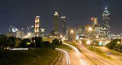 Downtown Atlanta,  viewed from the east