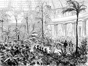 Royal Greenhouses of Laeken - The engagement of Rudolf of Austria and Princess Stéphanie of Belgium in the Winter Garden.