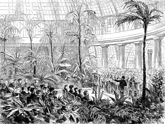 Royal Greenhouses of Laeken - Engagement of Rudolf of Austria and Princess Stéphanie of Belgium in the Grand Winter Garden
