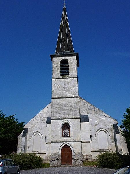 Aubry-du-Hainaut (Nord, Fr) église