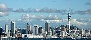Sky Tower in the Auckland skyline.