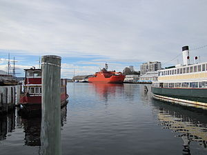 Aurora Australis is an icebreaker under the co...