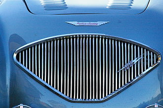 Donald Healey Motor Company - Healey's signature grille fanned out for the Austin-Healey 100