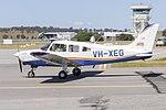 Australian Airline Pilot Academy (VH-XEG) Piper PA-28-161 Cherokee Warrior III taxiing at Wagga Wagga Airport.jpg