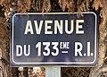 Avenue du 133e Ri (Belley), panneau de rue.jpg