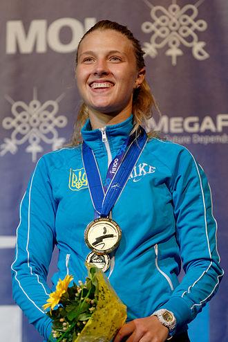Olha Kharlan - Kharlan at the 2013 World Fencing Championships